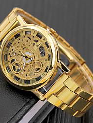 Недорогие -легированная сталь полые кварцевые часы случайные наручные часы орнамент подарок