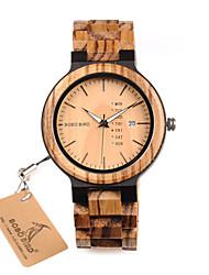 Недорогие -Нарядные часы Дерево Аналоговый Черный Коричневый