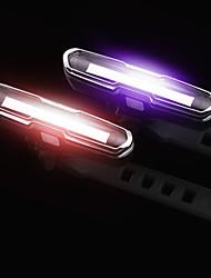 Недорогие -Светодиодная лампа Велосипедные фары Задняя подсветка на велосипед огни безопасности Велоспорт Водонепроницаемый Несколько режимов Простота установки 15 lm USB Перезаряжаемый Красный Синий