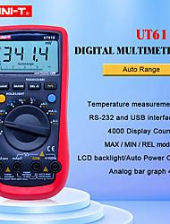 Недорогие -UT61B UNI-T цифровой мультиметр автоматический диапазон RS232 USB программное обеспечение для ПК данные держат температуру автоотключение лучшая точность 1% multimetro