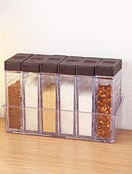 Недорогие -коробка приправы 6 шт. набор акриловые кухня приправа бутылка барбекю приправа бутылка