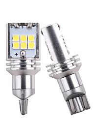 Недорогие -Новый t15 w16w 921 912 резервные фонари 3030 светодиодные 15 smd резервная лампа автомобиля задний фонарь canbus 12 В нет ошибки obc белый 12 В