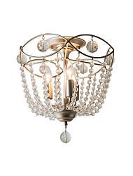 Недорогие -подвесные светильники полу скрытого монтажа хрустальные люстры 3 светильника творческий кристалл искусство потолочный светильник для гостиной