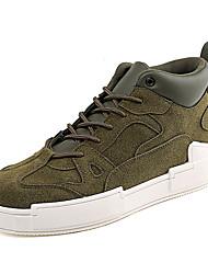 Недорогие -Муж. Комфортная обувь Полиуретан Осень На каждый день Кеды Нескользкий Военно-зеленный / Желтый / Кофейный