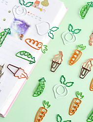 Недорогие -10 шт. / Лот творческий каваи морковь гороха овощной скрепки симпатичные металлические закладки декоративные файлы памятки клипы канцелярские