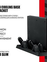 Недорогие -тонкий двойной игровой контроллер PS4 вертикальный кронштейн зарядки зарядная станция оснащена 2 высокоскоростными вентиляторами двойной контроллер