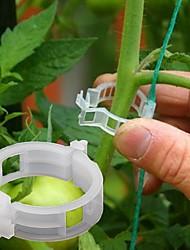Недорогие -50 шт. Растениеводство лозы фиксированный зажим привязанный пряжка крепежный крюк сельскохозяйственная теплица овощной гаджет сад пластиковый плантатор трелли
