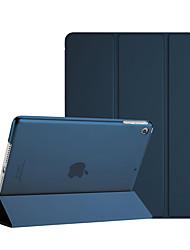 Недорогие -Кейс для Назначение Apple iPad Mini 3/2/1 Защита от удара / Защита от пыли / Авто Режим сна / Пробуждение Чехол Однотонный Твердый Кожа PU