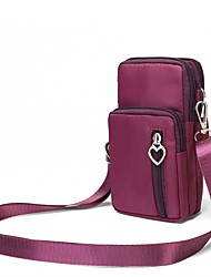 """Недорогие -Жен. Молнии Ткань """"Оксфорд"""" Мобильный телефон сумка Сплошной цвет Черный / Лиловый / Пурпурный / Наступила зима"""