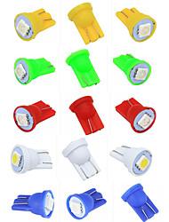 Недорогие -Красочные t10 5050 1smd 5050 1 светодиодные 194 168 w5w сторона автомобиля клин хвост лампа для чтения лампа автомобиля указывают авто лампа для пинбола 12 В
