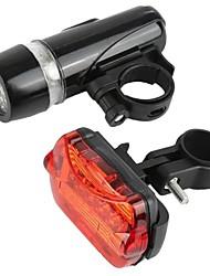 Недорогие -Велосипедные фары Передняя фара для велосипеда Задняя подсветка на велосипед огни безопасности LED Горные велосипеды Велоспорт Велоспорт Водонепроницаемый Портативные Регулируется Осторожно! AAA 50 lm