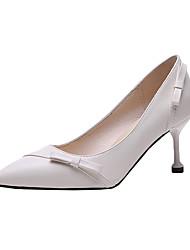 cheap -Women's Heels Kitten Heel Bowknot PU(Polyurethane) Casual Summer Black / Beige