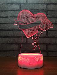 Недорогие -подарки на день святого валентина электронные гаджеты привели USB прикроватная ночник 3d 3d детская лампочка