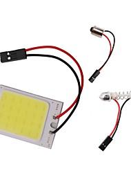Недорогие -1 шт. T10 ba9s гирлянда купола свет автомобильный початок светодиодный свет панели постоянного тока 12 В 3 Вт белый с 3 адаптерами для авто интерьер автомобиля свет лампа для чтения карты лампа