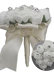Недорогие -Свадебные цветы Букеты Свадьба / Свадебные прием Шёлковая ткань рипсового переплетения / стекло / Поливинилхлорид 11-20 cm