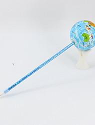 Недорогие -новый пу / пластик с синим карандашом свинца шариковая ручка с ручным заводом ремесло моделирование земли ручка для офиса&усилитель; школьные принадлежности выпускают / снимают давление подарков