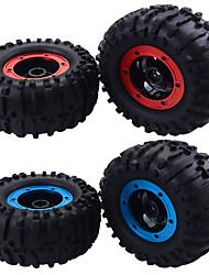 Недорогие -1/10 масштаба RC монстр грузовик резиновые шины и пластиковые колеса для traxxas himoto hsp hpi тамия kyosho rc модель автомобиля