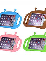 Недорогие -Кейс для Назначение Apple iPad Air / iPad (2018) / iPad Air 2 Защита от удара / Детский Безопасный случай Кейс на заднюю панель Однотонный / 3D в мультяшном стиле силикагель / iPad (2017)