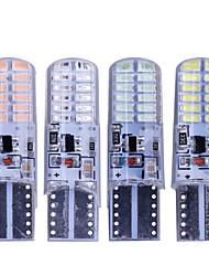 Недорогие -10 шт. T10 w5w светодиодные вспышки силиконовые гель-свет 194 168 3014 24 светодиодные мигающие лампочки габаритные огни 12 В 2 модели фары