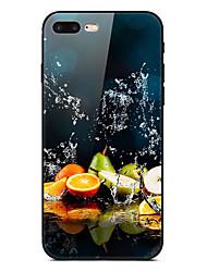Недорогие -Кейс для Назначение Apple iPhone XS / iPhone XR / iPhone XS Max Ультратонкий / С узором Кейс на заднюю панель Продукты питания / Цвет неба Мягкий ТПУ