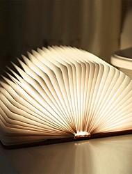 Недорогие -1шт Tyvek бумага складной светодиодный книжный светильник встроенный литий-батарейный складной перезаряжаемый декоративный свет с USB-портом, легко несущий 5 цветов света и 8 цветов градиента света