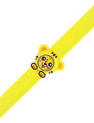 Недорогие -Часы-браслет силиконовый Аналоговый Темно-желтый Розовый Лимонно-желтый / Нержавеющая сталь