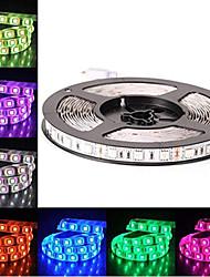 Недорогие -светодиодные 12v smd 5050 rgb светодиодные ленты фонари светодиодные ленты многоцветные 300 светодиодов не водонепроницаемые световые полосы изменяющая цвет упаковка 5м полосы