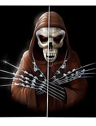 Недорогие -Оптовая продажа человеческий скелет 3d цифровая печать hallowmas тема окно занавес роскошные вечеринки шторы домашнего декора затемнения 100% полиэстер ткань для штор