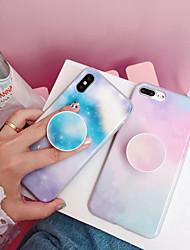 Недорогие -Кейс для Назначение Apple iPhone XS / iPhone XR / iPhone XS Max со стендом / IMD / С узором Кейс на заднюю панель Мультипликация / Градиент цвета ПК