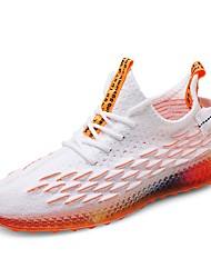 Недорогие -Муж. Комфортная обувь Tissage Volant Лето / Осень Спортивные / На каждый день Спортивная обувь Беговая обувь Дышащий Черно-белый / Белый / Желтый / Оранжевый
