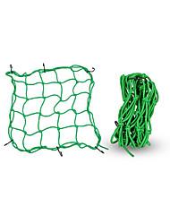Недорогие -Мотоцикл багажный пакет чистая сумка веревка шлем сумка для хранения заднее сиденье сетчатая сумка пакет зеленый-1шт