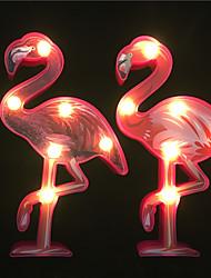 Недорогие -2 шт. Творческий 3d фламинго форма из светодиодов ночник а. А. Батареи питания украшения дома освещение дети подарок светодиодные (приходят без батареи)