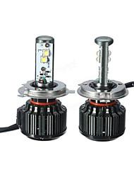 Недорогие -пара 9003 / h4 80 Вт 8000lm 6000 К светодиодные ксеноновые лампы белого света дальнего света фар ближнего света