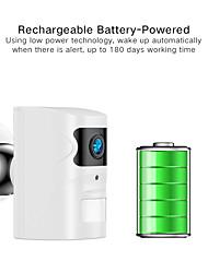 Недорогие -Sdeter 2-мегапиксельная 1080p аккумуляторная батарея камеры Wi-Fi IP-камера в помещении и на открытом воздухе P66 водонепроницаемый P2P ночного видения аудио сигнализация