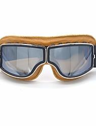 Недорогие -кожа винтажные очки скутер пилот лыжные солнцезащитные очки шлем очки оправа цветные линзы colorsilver