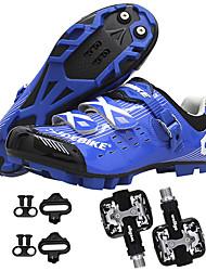 Недорогие -SIDEBIKE Взрослые Велообувь с педалями и шипами Обувь для горного велосипеда Дышащий Противозаносный Автоматическая блокировка Велоспорт Red and White Черный / синий Черный / желтый Муж. / D-Link