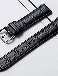 Недорогие -Настоящая кожа / Кожа / Шерсть теленка Ремешок для часов Ремень для Черный / Коричневый Прочее / 20cm / 7.9 дюймы 1cm / 0.39 дюймы / 1.2cm / 0.47 дюймы