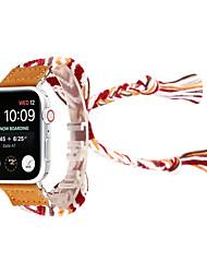 Недорогие -вязаный браслет из шерсти ручной работы браслет наручные часы для яблок часы 38 / 40мм 42 / 44мм серия 4 3 2 1 национальный ветер ручной ремешок для часов