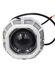 Недорогие -12v-85v мода крутой двойной диафрагмой светодиодные фары внутренний мотоцикл электрический автомобиль прожектор