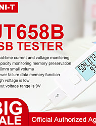 Недорогие -usb tester uni-t ut658b цифровой вольтметр ut658 измеритель напряжения тока амперметр детектор зарядное устройство индикатор зарядного устройства