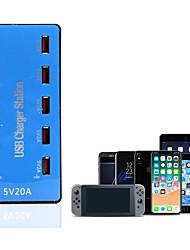 Недорогие -10 портов usb зарядное устройство 20a смартфон настольная зарядная станция 5v 2a для samsung xiaomi ipad tablet pc
