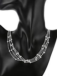 povoljno -Žene Ogrlice s privjeskom Geometrijski Gypsophila Moda Glina Pink 50 cm Ogrlice Jewelry 1pc Za Dnevno Ulica