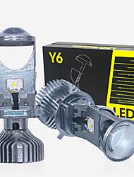 Недорогие -новый 2шт привет / lo h4 привел левостороннее вождение lhd вождения мини-проектор фары объектива для автомобиля прозрачный луч 12 В 6000 К нет астигматическая проблема пожизненная гарантия