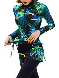 halpa -JIAAO Naisten Skin-tyyppinen märkäpuku Sukelluspuvut Pidä lämpimänä UV-aurinkosuojaus 4-osainen - Sukellus Patchwork Syksy Kevät Kesä / Elastinen