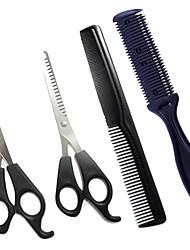 Недорогие -Ножницы для стрижки волос парикмахерские ножницы для стрижки волос истончение парикмахерские набор инструментов для укладки волос парикмахерская расческа с двух сторон бритвы гребень резак