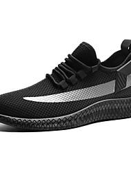 Недорогие -Муж. Комфортная обувь Tissage Volant Лето Спортивная обувь Беговая обувь Черный / Белый