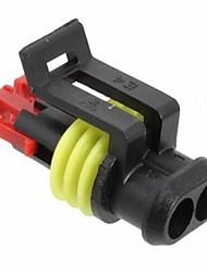Недорогие -10 компл. / Упак. 2 контакта нейлон герметичный водонепроницаемый ip68 электрический разъем разъем автомобильные автоаксессуары