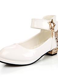 Недорогие -Девочки Детская праздничная обувь Полиуретан Обувь на каблуках Маленькие дети (4-7 лет) Стразы Белый / Черный / Красный Осень