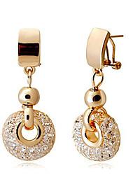billige -luksus rose gold drop øreringe champagne wire zircon crystal kvindelige mode smykker 4,8 cm * lang og 2 cm bred