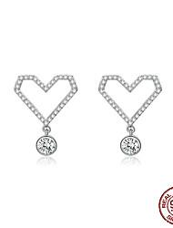 Недорогие -сердце серьги для женщин стерлингового серебра 925 пробы циркония корейская мода ювелирные изделия свадьба заявление ювелирные подарки bse15127